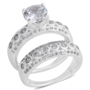 Jewelry - Wedding Rings Simulated Diamond Sterling Silver